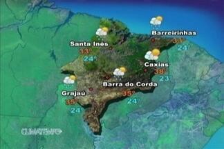 Veja como fica a previsão do tempo para esta terça-feira (22) - O sol ainda brilha forte hoje no Maranhão e o calorão continua. No extremo leste, nas áreas próximas à região de Teresina, não há previsão de chuva.