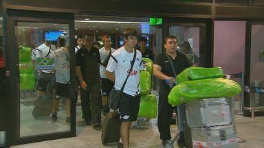 Time do Libertad desembarca no Recife para jogo contra o Sport - Equipes se enfrentam nesta quarta-feira na Arena Pernambuco