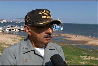 Capitania dos portos orienta sobre cuidados na navegação durante vazante dos rios - Comandante da Marinha Santarém dá orientações para prevenir acidentes na navegação na região.