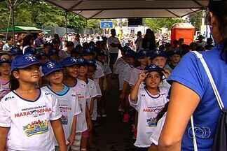 Goiânia recebe 11ª edição da 'Maratoninha' - Atletas de 6 a 12 anos mostram talento com apoio dos pais na torcida.
