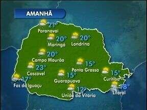 Pancadas de chuva continuam previstas - A terça-feira já deve começar com temperaturas altas.