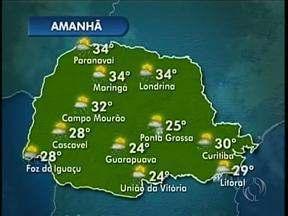 Veja a previsão do tempo para a região de Maringá nessa quarta-feira - Podem ocorrer pancadas de chuva
