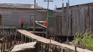 Defesa Civil estuda riscos de desabamentos no Aturiá - A Defesa Civil está fazendo um novo estudo das moradias que correm risco de desabamento no Aturiá.