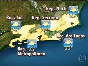 Dia deve ser de temperaturas amenas no Rio de Janeiro - A terça-feira (29) vai ser de sol entre nuvens, mas não há previsão de chuva. As temperaturas baixaram um pouco, mas deve esquentar ao longo do dia. A temperatura máxima no estado deve ser de 25ºC.