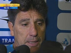 Esporte: Renato Portaluppi fala sobre o jogo entre Grêmio e Atlético-PR - Tricolor gaúcho perdeu por 1 a 0.