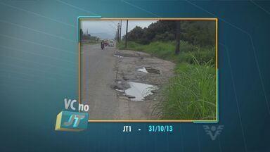 Morador de São Vicente reclama de buracos na rodovia Padre Manoel da Nóbrega - A prefeitura disse que os reparos são feitos com frequência, mas ainda há buracos por causa do trânsito intenso