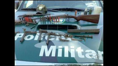 Polícia Ambiental Federal apreende instrumentos de caça em região Sul do ES - Foram encontrados em uma casa duas espingardas, garrucha e vários materiais utilizados para a prática ilegal de caça de animais silvestres.