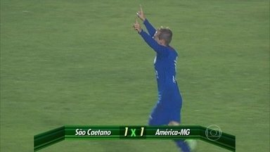 Os dois jogos que abrem a 34ª rodada da Série B terminam em empate - Chapecoense empata com América-RN e América-MG empata com São Caetano por 1 a 1.