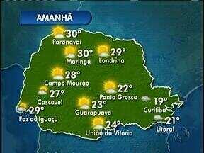 A quinta-feira vai ser de tempo instável na região de Curitiba - As temperaturas seguem baixas.