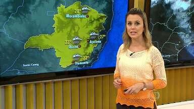 Tempo continua chuvoso nesta quinta em Belo Horizonte - Capital tem máxima de 22ºC.