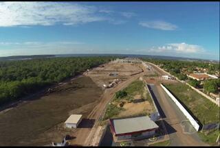 1500 empregos diretos são aguardados com novo shopping em Santarém - As obras às margens da estrada do aeroporto devem ser concluídas em 2014.