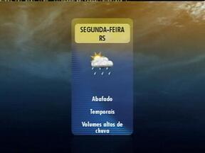 RS tem previsão de temporal no domingo (10) em algumas regiões do estado - Abafamento ajuda a trazer mal tempo para os gaúchos.