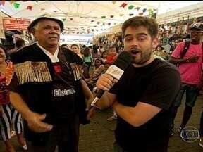 'Chico Torcedor': procura companhia para o jogo do Vasco no Maracanã - Chico torcedor assiste ao jogo do vasco contra o Santos após convidar 4 torcedores na feira de São Cristóvão.