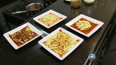 Chef de cozinha ensina a fazer cinco molhos para macarrão - Receitas são simples e não demoram 20 minutos para ficar prontas.