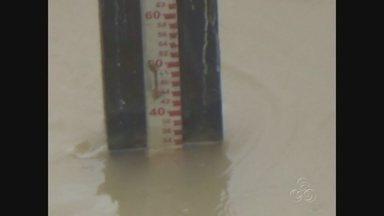 Nível do Rio Solimões, no Amazonas, sobe 29 centímetros em um mês - Subida atípica pode ser preocupante.