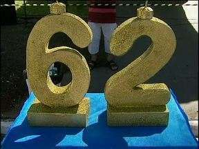 Cascavel comemora 62 anos com festa - Os pioneiros comemoram o aniversário da cidade com um almoço.