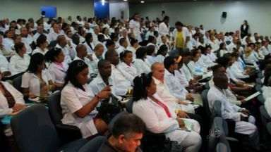 """Começou hoje a capacitação dos médicos da segunda etapa do """"Mais Médicos"""" - Durante três semanas, eles vão ter aulas sobre saúde pública brasileira e língua portuguesa."""
