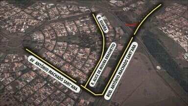 Recapeamento na pista interdita Anel Viário Sul em Ribeirão Preto - Motorista que vai em direção a Rodovia Antonio Machado Santana no sentido de Araraquara terá que encontrar rotas alternativas para o trajeto.