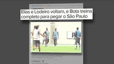 Com Elias e Lodeiro de volta, Botafogo treina completo para jogo contra o São Paulo - Goleiro Jefferson alerta para força do elenco do São Paulo, que deve jogar com reservas.