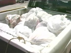 Operação de combate ao abigeato prende cinco pessoas em Alegrete, RS - Mais de 700 kg de carne são apreendidos.