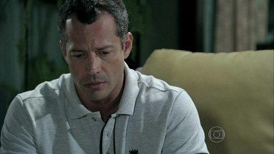 Bruno conta para Ordália que se separou de Paloma por causa de Aline - Ele revela os detalhes da armadilha da golpista. Paloma lamenta a briga com César