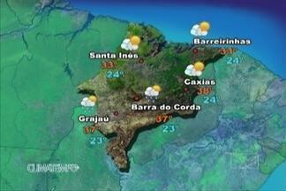 Veja como fica a previsão do tempo para esta quinta-feira (5) - Uma grande massa de ar quente atua em todo o maranhão nesta quinta-feira. No norte, o tempo continua seco, faz muito sol e não há possibilidade de chuva.