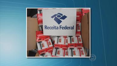 Vinte mil produtos falsificados foram apreendidos no Porto de Suape, PE - Carga veio da china e estava em três contêineres, segundo a Receita Federal.