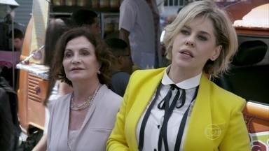 Edith acusa Félix de ser o responsável pela prisão de Tamara - O vilão fica assustado com a presença dos investigadores