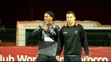 Galo faz primeiro treino em Marrakesh para Mundial de Clubes - Jogadores deo Galo começam a conhecer cultura local