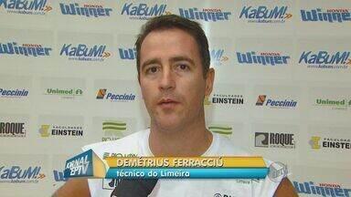 Limeira treina para se manter invicto no Novo Basquete Brasil - A equipe do basquete masculino de Limeira trabalha duro no Ginásio Vô Luccato para manter uma série invicta de vitórias na competição NBB.
