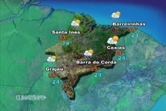 Veja como fica a previsão do tempo para esta sexta-feira (13) - Áreas de instabilidade predominam sobre parte do Maranhão. No extremo sul do Estado, o sol aparece pouco entre muitas nuvens e há previsão de chuva ao longo do dia.