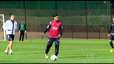 Jogadores do Atlético-MG treinam com Brazuca, a bola da Copa do Mundo - Jogadores elogiam a bola que será utilizada no Mundial de 2014