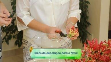 Dica de arranjo - A decoradora Juliana Valim da uma super dica de arranjo de flores para as festas de fim de ano.