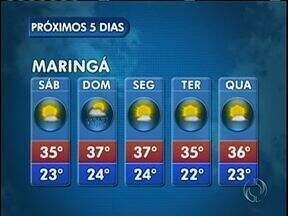 A previsão é de sol neste sábado em Maringá - No domingo a temperatura pode chegar aos 37 graus na cidade