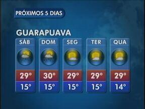 O fim de semana começa com muito sol na região de Guarapuava - As temperaturas permanecem elevadas e os termômetros podem marcar 30 graus em União da Vitória.