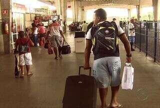 Movimento intenso no terminal rodoviário de Aracaju - Movimento intenso no Terminal Rodoviário Governador Rollemberg Leite, na Zona Oeste de Aracaju.