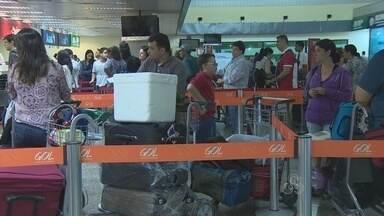 Movimentação no aeroporto de Porto Velho é intensa antes do Natal - Mas por causa da alta do preço das passagens houve uma leve queda no número de passageiros.