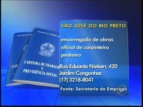 Confira as vagas de emprego divulgadas no Tem Notícias de Rio Preto, SP - Veja as vagas de emprego disponíveis nas duas maiores cidades do noroeste paulista, São José do Rio Preto (SP) e Araçatuba (SP), divulgadas nesta quinta-feira (16), no Tem Notícias.