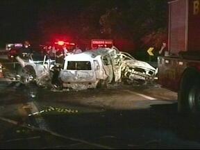 Sete pessoas morrem em acidente na BR-386, em Pouso Novo, RS - Cinco vítimas eram da mesma família.