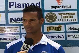 Valdo foi um dos destaques do Confiança na estreia pela Copa do Nordeste - Mesmo tendo boa atuação, o discurso de Valdo foi solidário ao Confiança. Ele se mostrou insatisfeito com o resultado adverso diante do rival colorado.