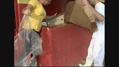Com medida sustentável, empresária de RO recicla mais de 70% do lixo - Desde 2011 funcionários realizam coleta seletiva em mercado de Ariquemes.Ação foi destaque em revista nacional; maior desafio é conscientização.