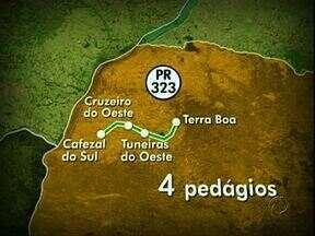 DER publica edital para a duplicação da PR-323 - Já saiu o edital para a duplicação e pedágio da PR-323 entre Maringá e Francisco Alves. A região Noroeste terá quatro praças de pedágio.