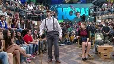Rudy Landucci se transforma em um senhor de idade - Humorista fz uma performance como senhor Conrado