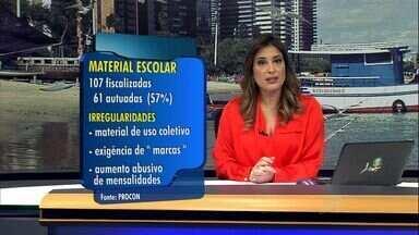 Procon autua escolas de Fortaleza por exigir material escolar irregular - Lei proíbe cobrança de itens de uso coletivo.