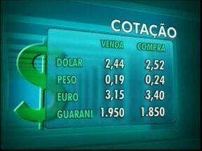 Confira a cotação das moedas nas casas de câmbio de Foz - O dólar vale R$ 2,44 na venda e R$ 2,52 na compra.