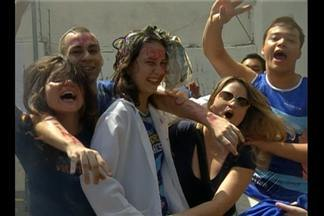 Dia foi de festa para os 3 mil novos calouros da Universidade do Estado do Pará - Hora de soltar o grito aguardado durante o ano inteiro.