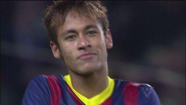 """Caso Neymar agita a semana no Brasil e na Europa - O """"caso Neymar"""" foi o grande tema desta semana no esporte. O pai do atleta assumiu que recebeu uma quantia do Barcelona, enquanto o Santos afirmou que desconhecia a negociação entre família do atleta e clube espanhol."""