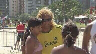 Ex-jogador Biro-Biro ministra clínica em São Vicente - O corintiano esteve na Arena Kids e agitou as férias da garotada que foi até o local.