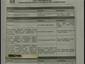 Anulada a prova para o cargo de médico veterinário da Secretaria Estadual da Saúde - Mais de 50 candidatos que prestariam o concurso em Erechim, RS, não receberam a avaliação.