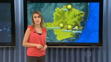 Dias sem chuva em Minas deixam solo seco e prejudicam a agricultura - Pelas imagens de satélite dá para ver que, com a circulação oceânica aumenta um pouco a nebulosidade.